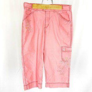 (I3-02) Gloria Vanderbilt Womens Sz 12 Pink Capri